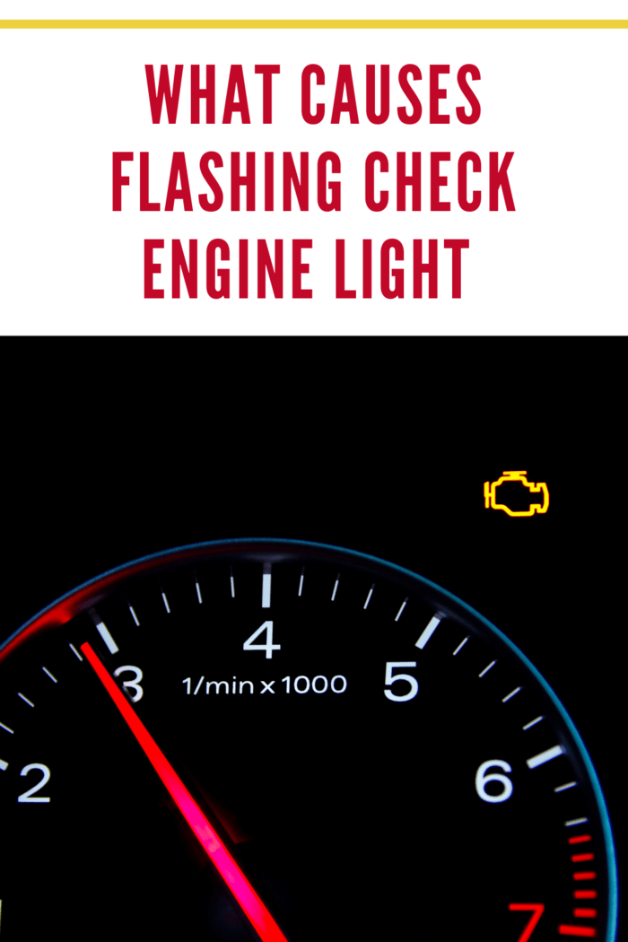 check engine light flashing on dashboard of car