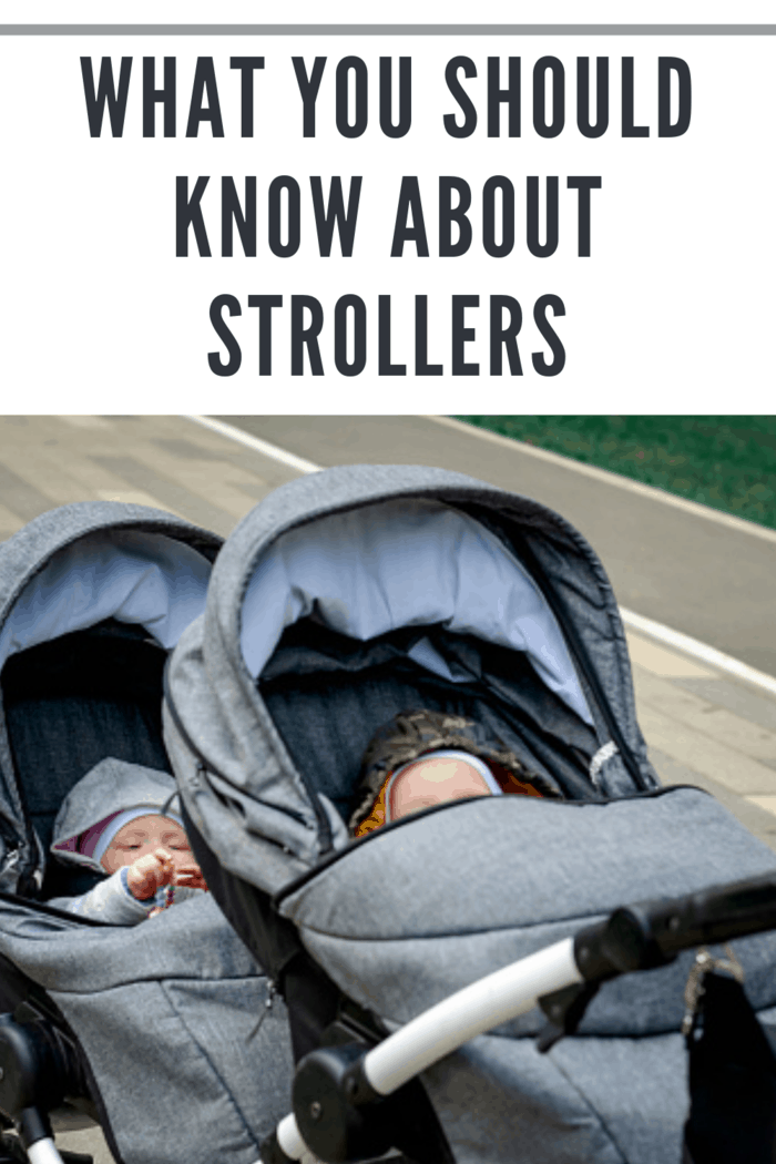 double stroller with babies