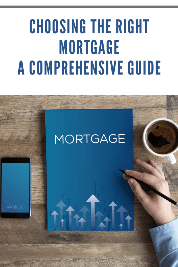 MORTGAGE CONCEPT of choosing the right mortgage