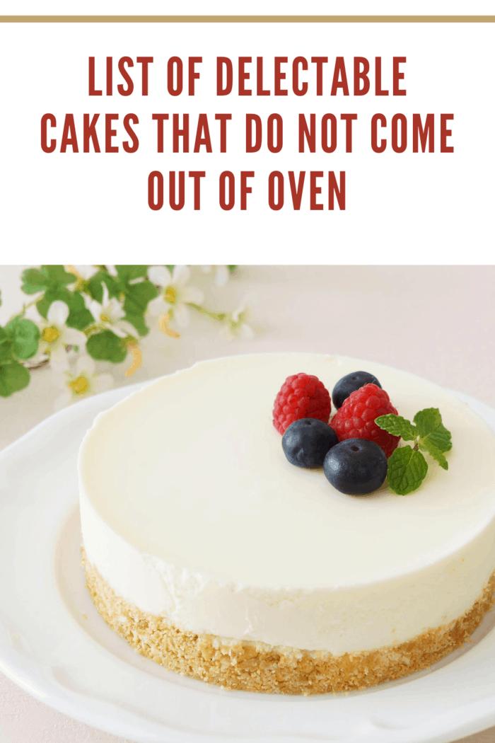 No-bake Cheesecake on a white plate.