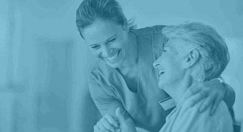 woman from best nursing agency in Australia caring for senior woman with