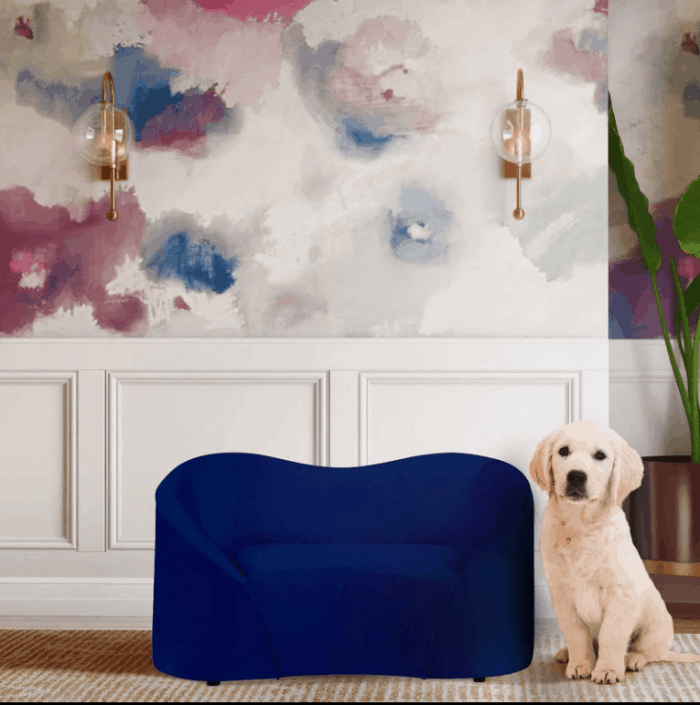 Read on for some great ways to put together some dog-friendly living room ideas for your space, including ways to incorporate luxury dog beds.