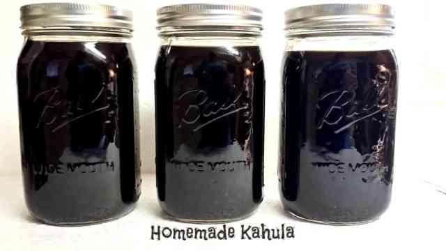 instant pot kahula in mason jars