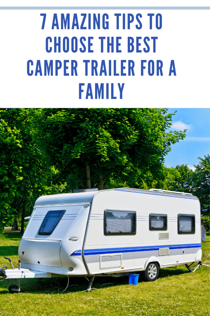 Camp trailer on the camping