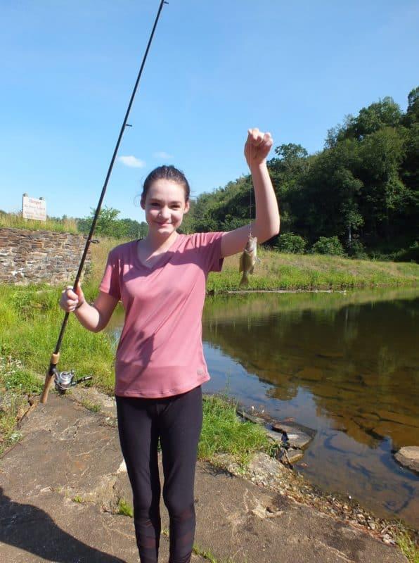 Yup..3:30pm MacKenzie caught her FIRST fish!