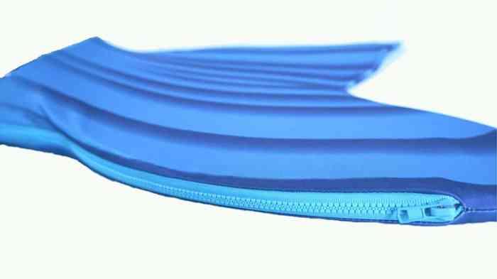 aquamermaid fin with zipper