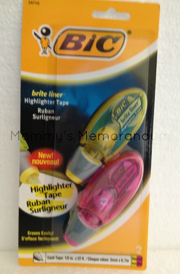 BIC Brite Liner Highlighter Tape