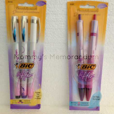 BIC for Her Gel and Marker Pens