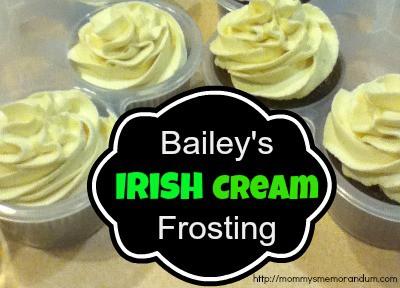 Bailey's Irish Cream Frosting Recipe