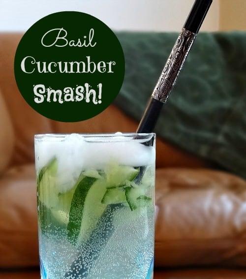 Basil Cucumber Smash #recipe Straw Envy