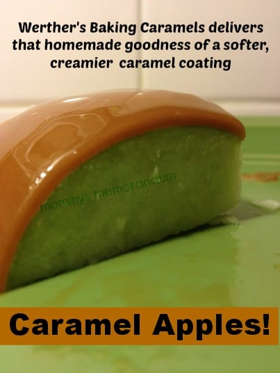 Caramel Apples Recipe  #WerthersCaramel and #Caramel