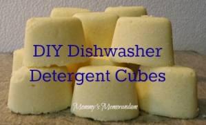 #DIY Dishwasher Detergent Cubes