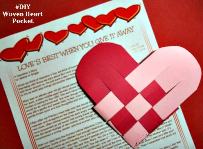 #DIY Woven Heart Pocket