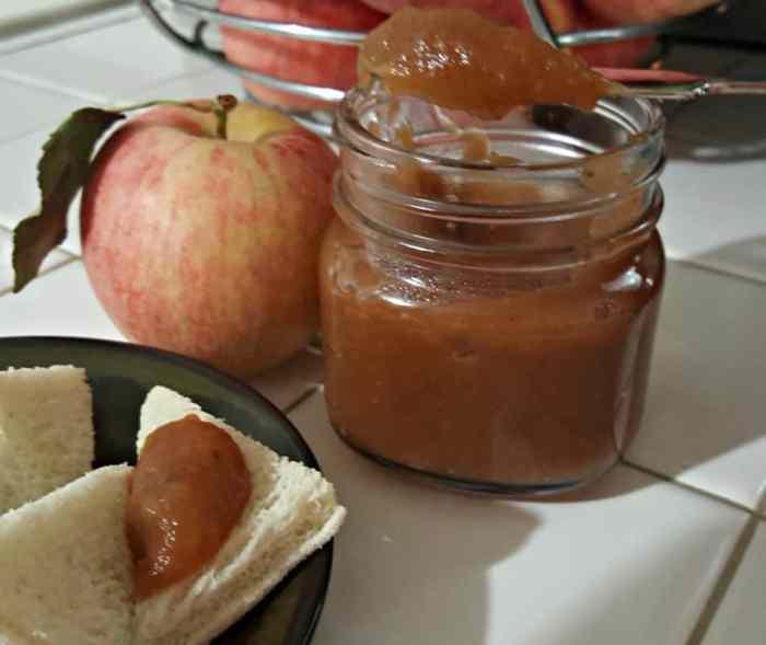 Easy Instant Pot Apple Buter on knife