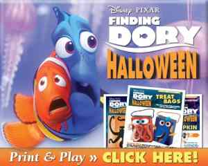 You HAVE to See these Finding Dory Treat Bags + Pumpkin Carving Stencil