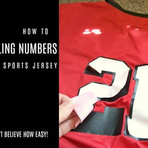 How To Fix Peeling Numbers On A Sports Jersey