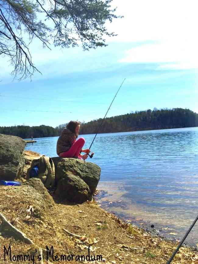 Fishing with Miss M