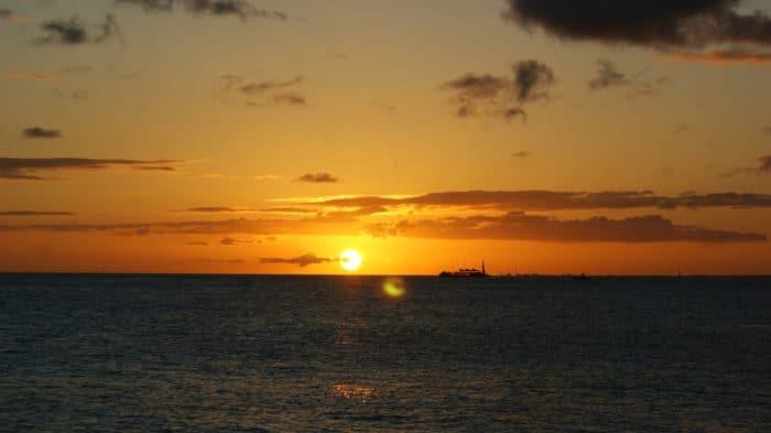 Hawaii Sunset Travels Beaches Vacation