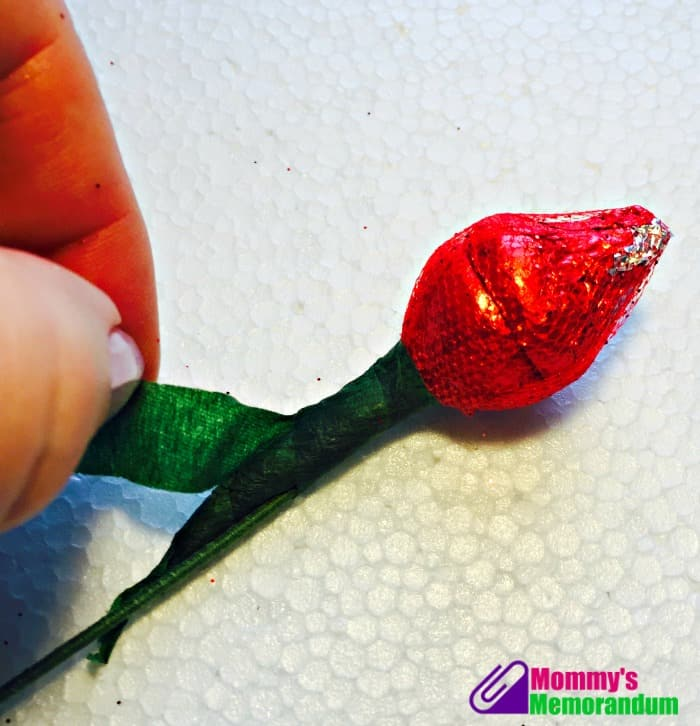 Hershey Kisses Roses wrapping floral tape
