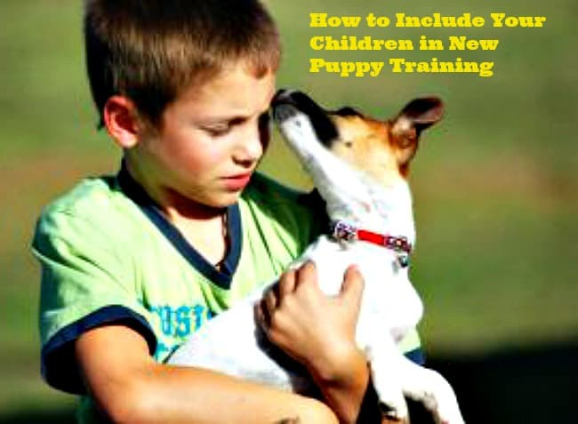 How to Include Your Children in New Puppy Training