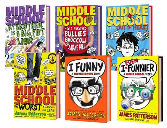 James Patterson middle school prize pack