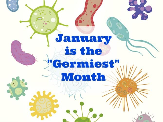 January is the germiest month