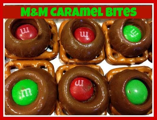 M&M Caramel Bites #Recipe #DIY #HolidayBaking