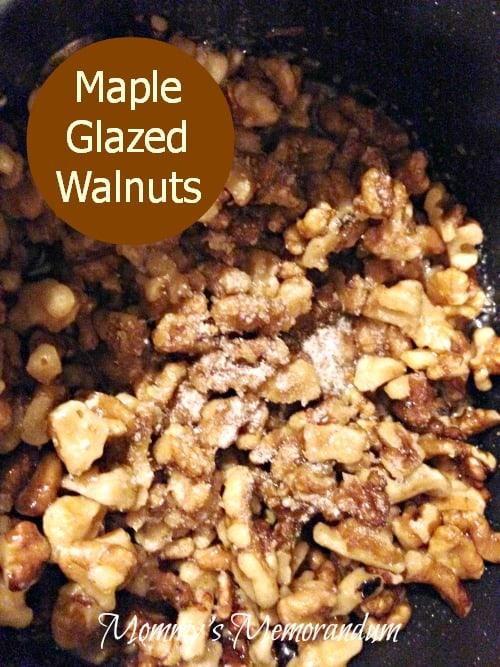 Maple Glazed Walnuts #recipe