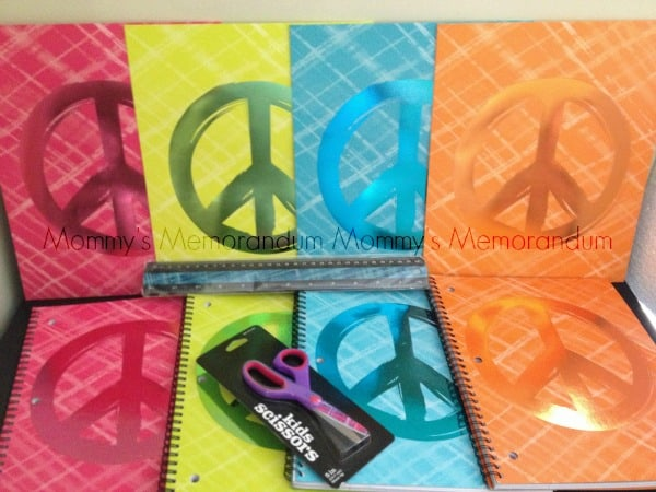 Office Depot Peace Sign Notebook