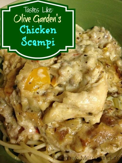 Olive Garden's Chicken Scampi #recipe #copycat #pasta