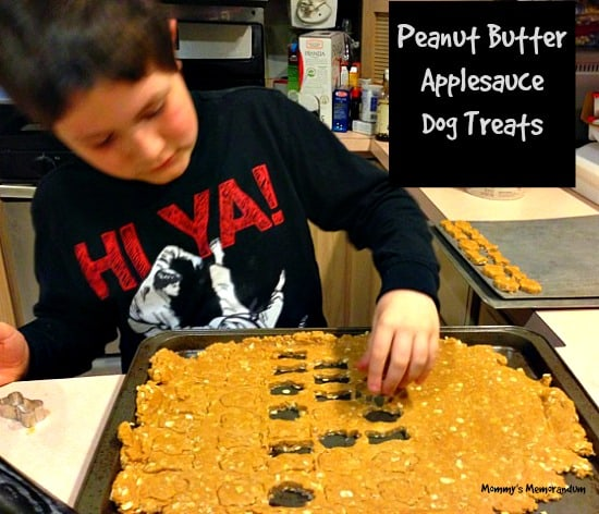 cutting out the dog treats