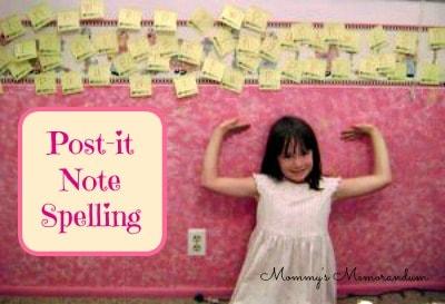 Post-It-note-Spelling