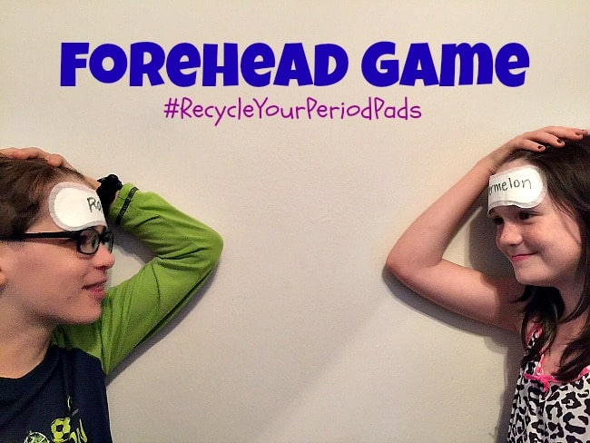 #RecycleYourPeriodPads Forehead Game