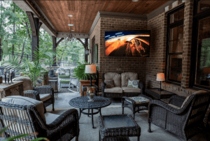 Take the Game Outdoors with the @SunBriteTV Veranda Series at @BestBuy #ad