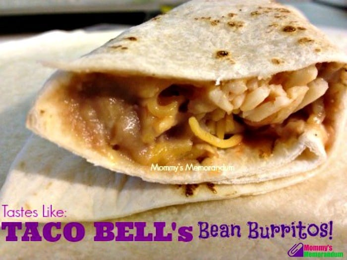 Copycat Taco Bell Bean Burritos Recipe