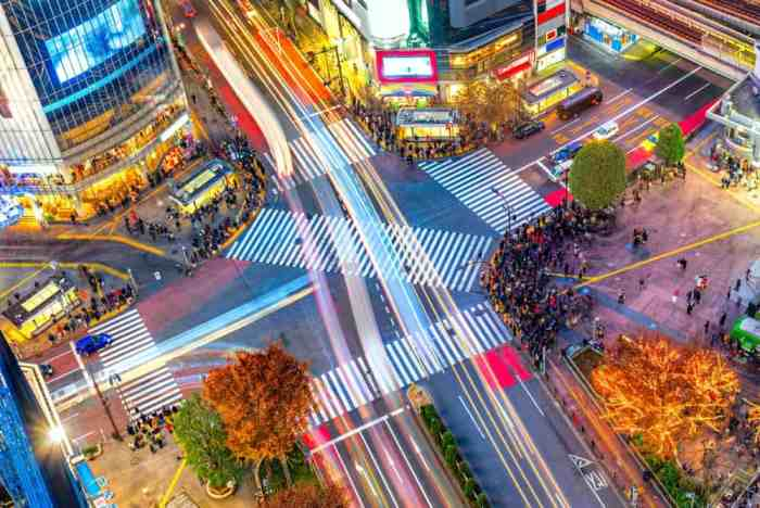 The Eight Amazing Places to Visit in Tokyo Japan Shibuya Crossing and Harajuku
