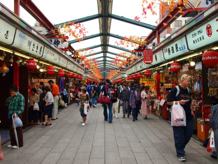 The Eight Amazing Places to Visit in Tokyo Japan nakamise shopping street
