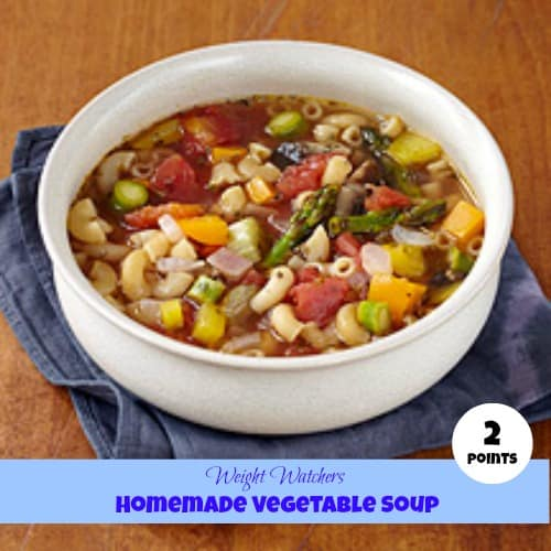 Weight watchers homemade vegetable soup #Recipe