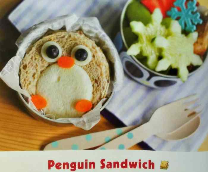 Yummy Kawaii Bento Penguin Sandwich