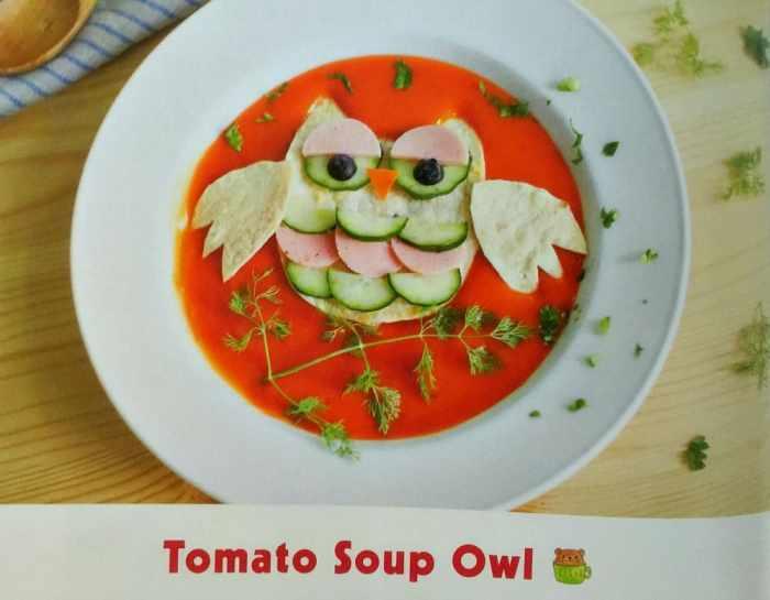 Yummy Kawaii Bento tomato soup owl