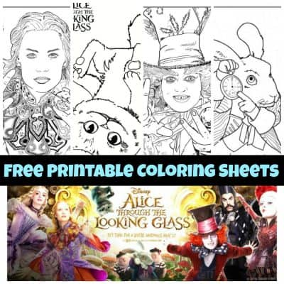Alice Through the Looking Glass Coloring Sheets