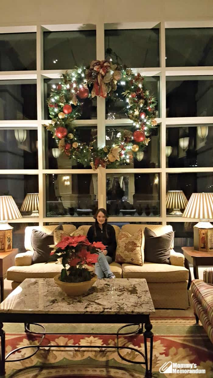 ballantyne hotel decorated for holidays