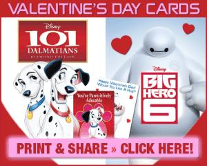 Big Hero 6 and 101 Dalmatians FREE Valentine Printables #BigHero6Bloggers