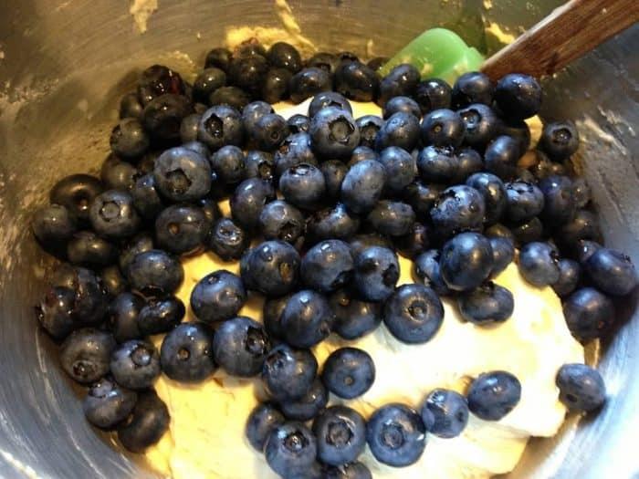 blueberry muffins add blueberries