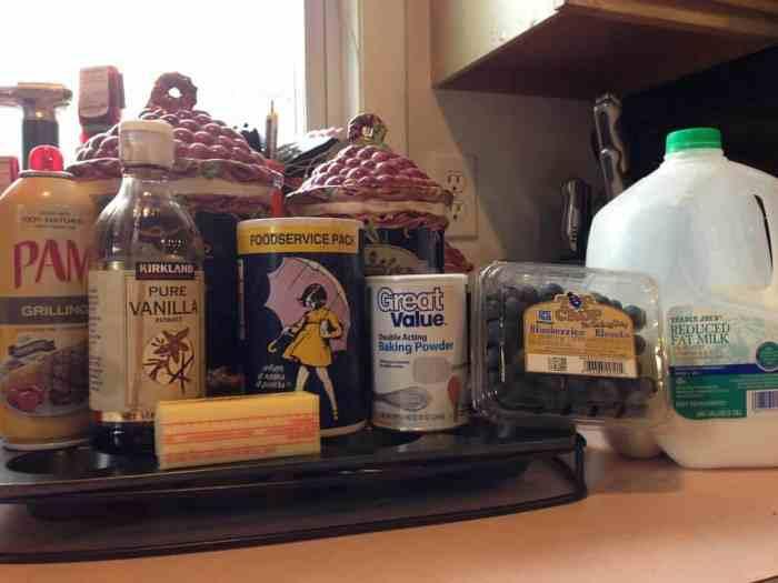 blueberry muffins ingredients