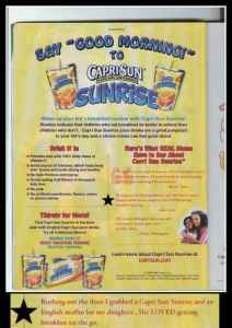 Capri Sun Sunrise Drink WOW!