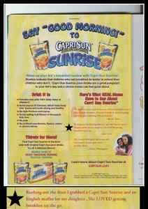Capri Sun Sunrise Drink WOW!