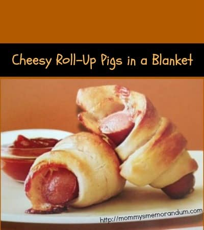 cheesy Roll Up Pigs in a Blanket recipe