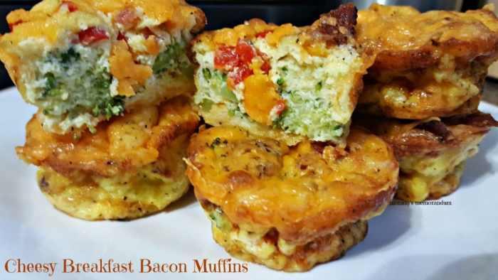 cheesy breakfast bacon muffins recipe