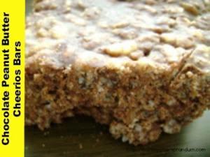 Chocolate Peanut Butter Cheerios Bars #Recipe